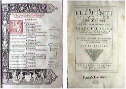 GLI ELEMENTI DI EUCLIDE            Venezia, 1505