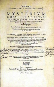 Mysterium Cosmographicum J. Kepler, Francoforte 1621