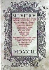 VITRUVIO, De Architectura Lione, 1523